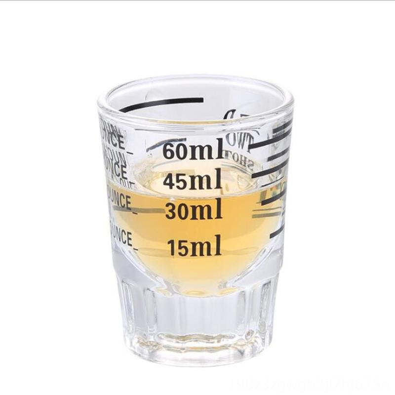 FEIGOLO Cocktail Measuring 30/ 60ML Transparent Glass Graduated Cup Coffee Tea Tools Kitchen, Dining & Bar Bartender Kitchen Measuring Cup F