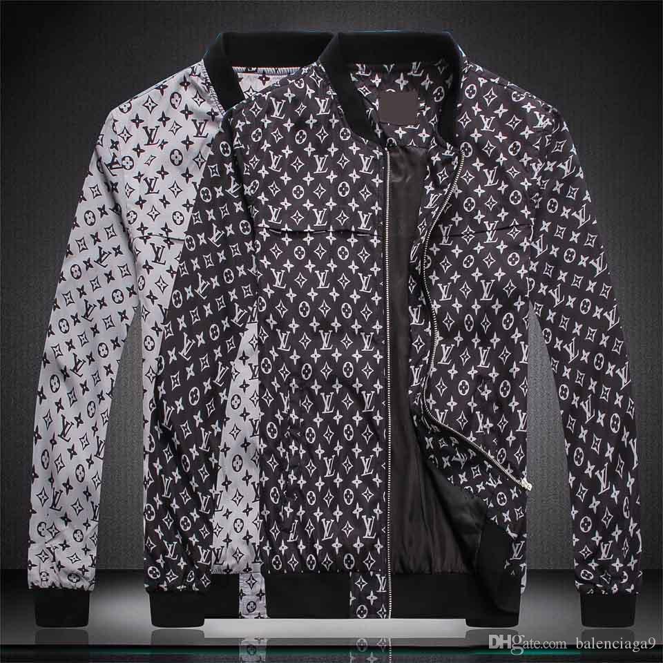 2019 Hip-Hop-Marke Medusa Designer italienische Jacke für Herren Superqualität Jacke Männer Casual Print Letters Pattern-freies Verschiffen