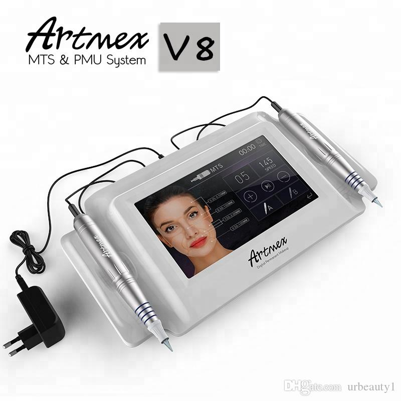 buy a micro needling pen Tattoo eyebrow kit therapy system with LED color touch screen PMU
