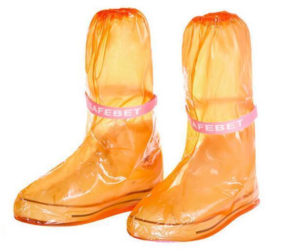 Estilo exterior impermeable largo set de ciclos botas de lluvia Overshoes viaje Fundamentos de alta calidad a prueba de agua de lluvia zapatos de la cubierta
