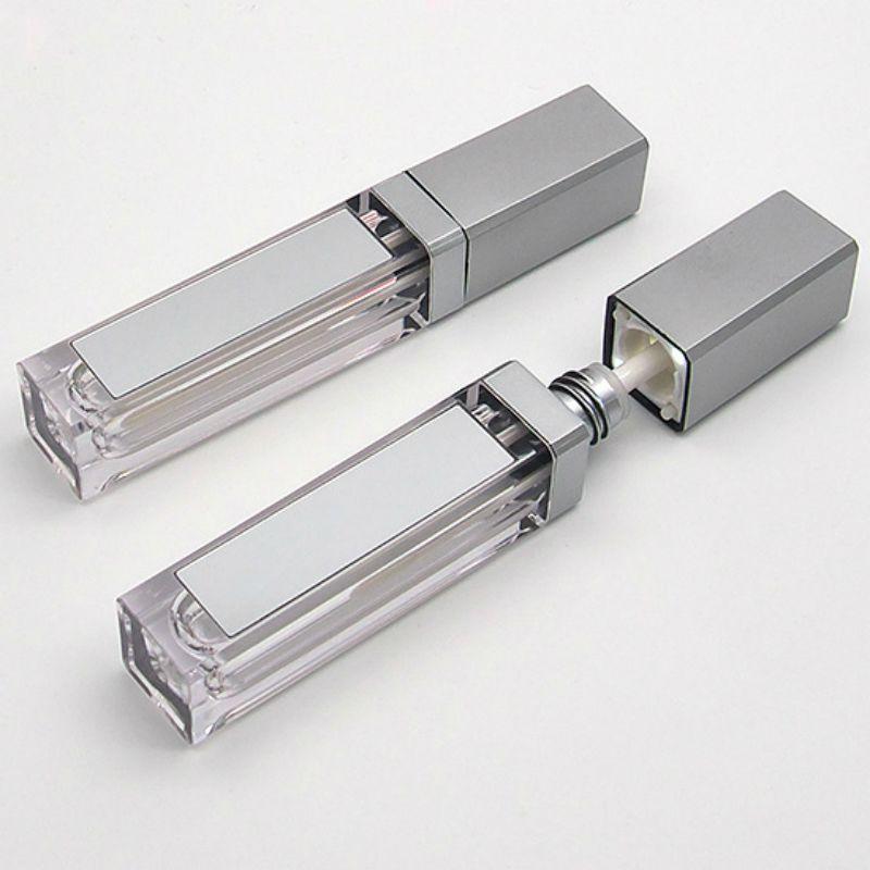 Nuovo LED 7ML Svuotare Lip Gloss tubi quadrati Cancella Lipgloss riutilizzabili bottiglie recipienti di plastica Lipgloss Trucco Packaging con specchio e luce