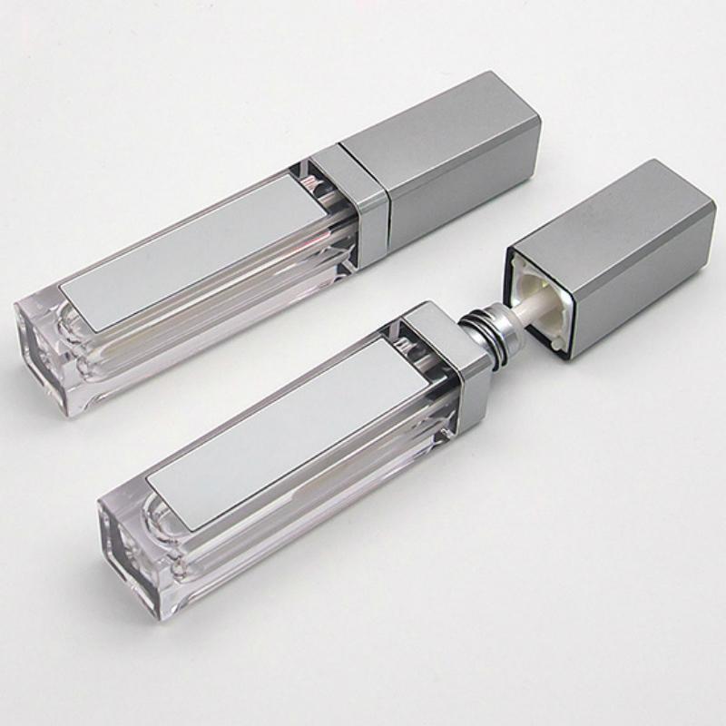 Новый 7ML LED Пустой Lip Gloss Tubes площади Очистить Lipgloss возвратных бутылок Контейнер пластиковый Lipgloss Макияж упаковки с зеркалом и подсветкой