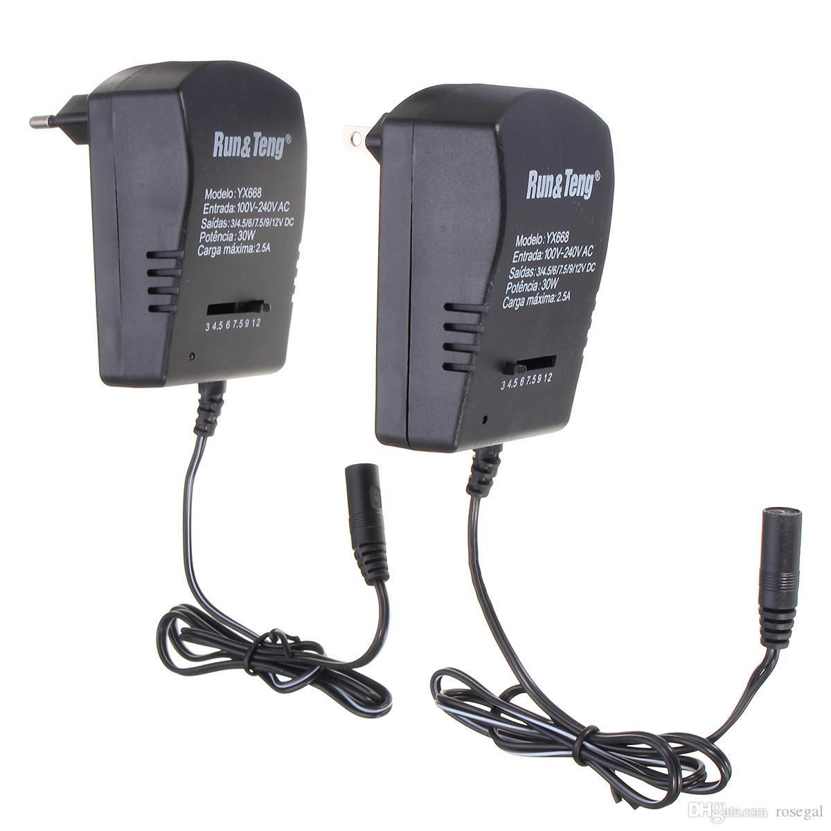 멀티 전압 전원 어댑터 2,500mA 3V에서 4.5V의 6V의 9V 12V DC 전원 공급 장치 - 미국 플러그