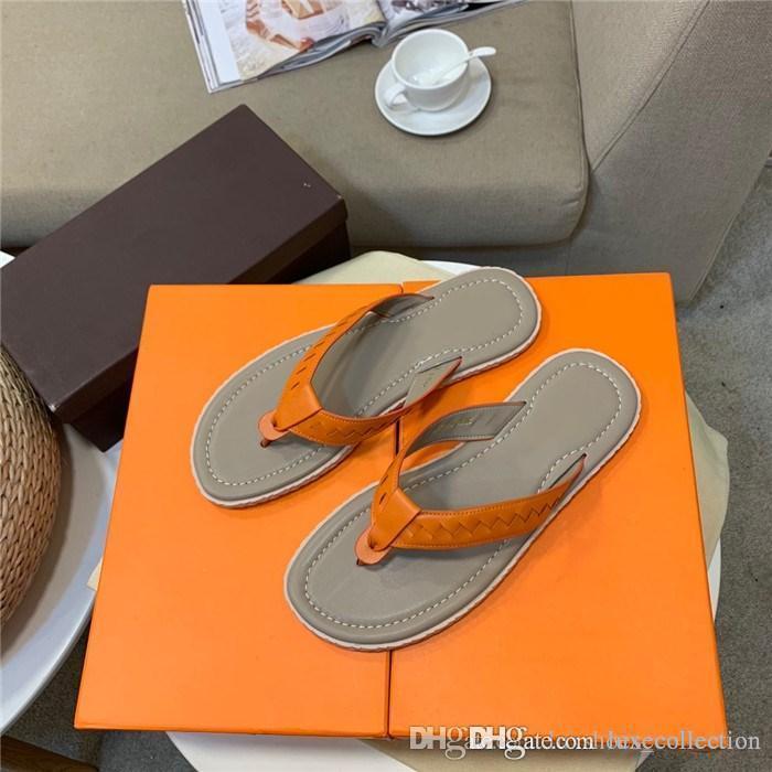 Esclusiva Serie Limitata, casuale classico di moda scarpe pantofole in pelle di vitello uomini, antiscivolo piatto flip-flop, il formato 38-44 caldo vendita