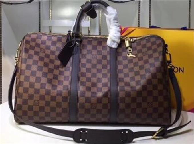 55 centimetri calda all'aperto confezioni sacchetti di Duffel del progettista degli uomini TRAVEL borsone bagagli del sacchetto A41 delle donne famose del cuoio genuino e Super