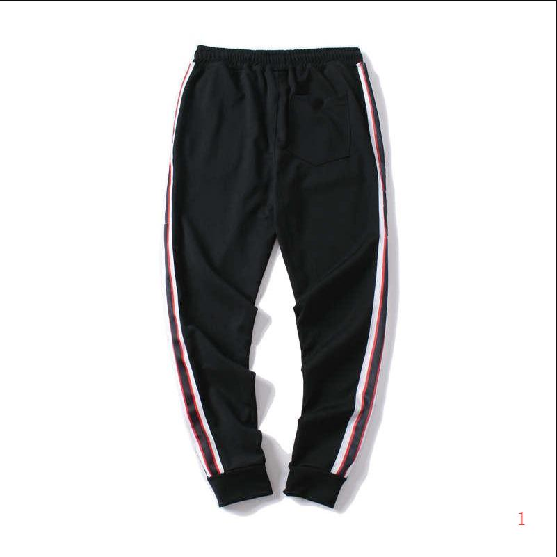 Pantalones para hombre de la moda años 20 del basculador Pantalones deportivos de calidad superior secundarios raya imprimir cartas Hombres Sportwear Trouse