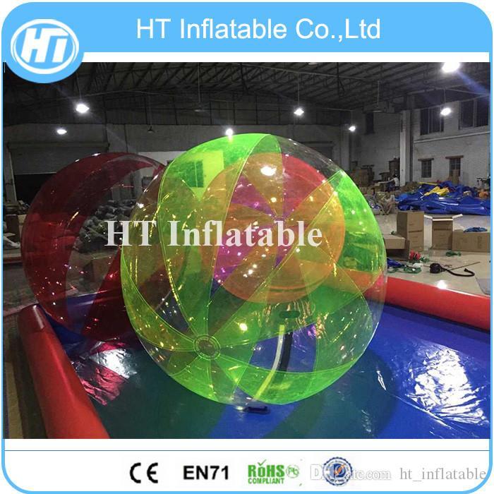 Balle d'eau colorée prix 2M humaine gonflable de taille de balle gonflable de l'eau de Zorb gonflable marchant jouets de sport en plein air