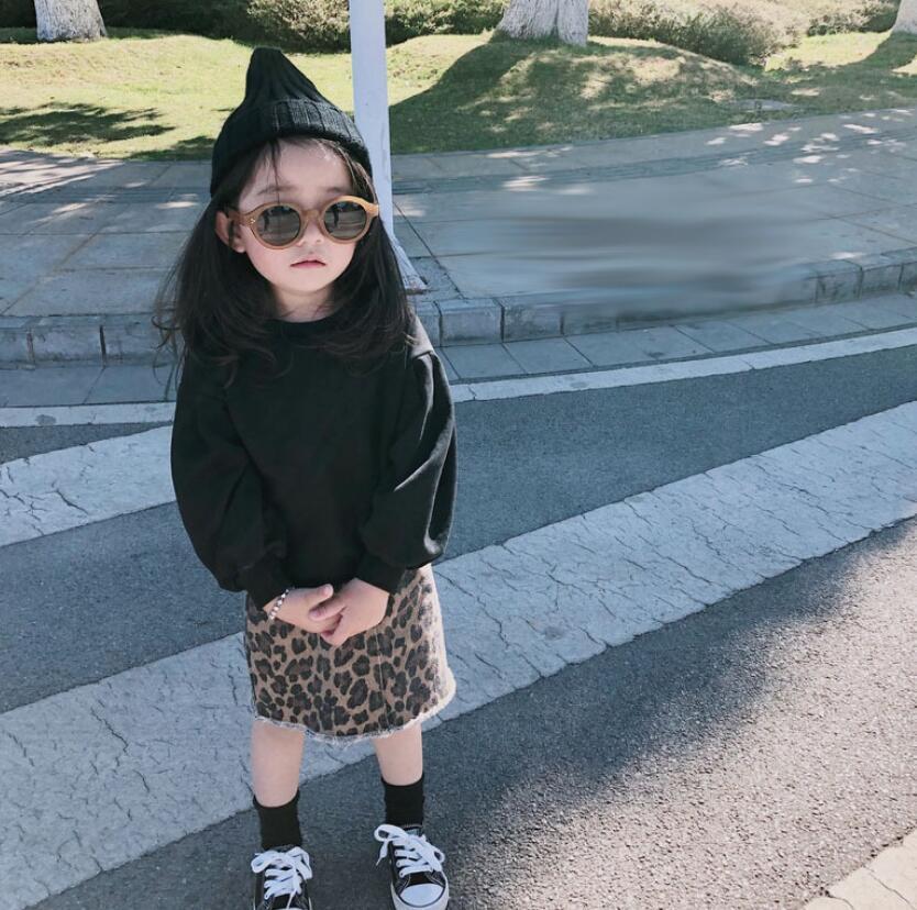 i vestiti dei capretti 2019 ragazze autunno impostati lungo tops + Gonne per bambini 2pieces degli insiemi dei vestiti tuta bambina manica 2 anni bambino vestito