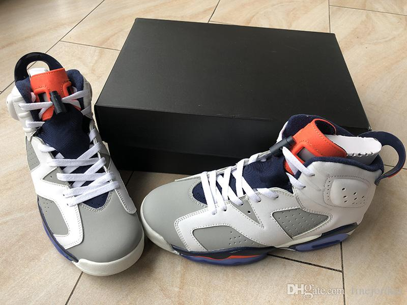 New 6 Tinker White Infrared 23-Neutral Grey-Sail Men Women Sports Shoes New Arrival Athletic Sneakers with box