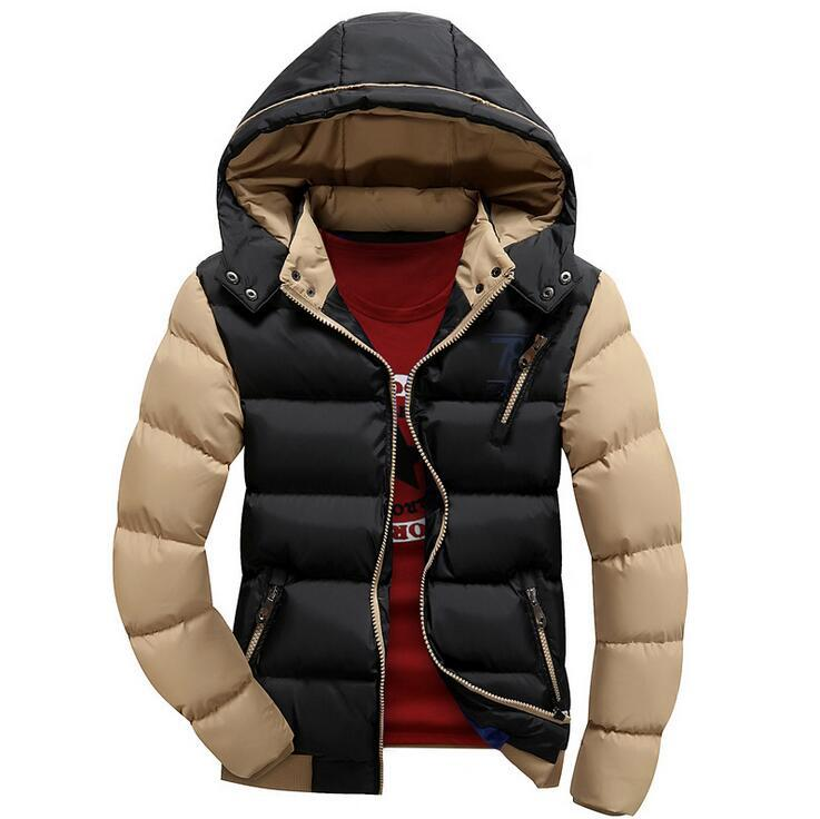 New Arrival Men Jacket Warm cotton coat mens casual hooded jackets Handsome thicking Parka Plus size XXXXL Coats