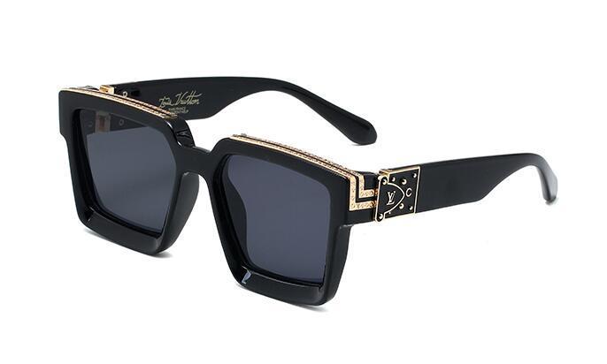 2019 verano más nueva manera al aire libre gafas de sol polarizadas para hombres y mujeres deporte unisex vidrios de Sun de las gafas de sol del marco Negro