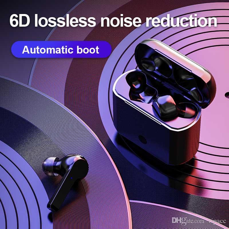 TWS Bluetooth 5.0 наушников A12 Спорт Гарнитуры отпечатков пальцев Touch HD Stereo Mini Wireless Earbuds Музыка с шумоподавлением Игровые наушники