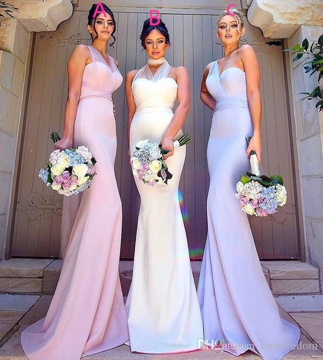 2019 Maxi Style Cheap Bridesmaid Dresses