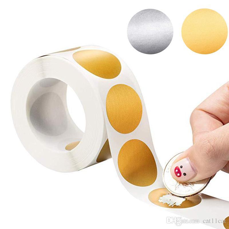300pcs Round Argento Scratch Off adesivi 1 pollice Scratch Off Leacls Sticker per Attività Party Favors Adesivo Cancelleria