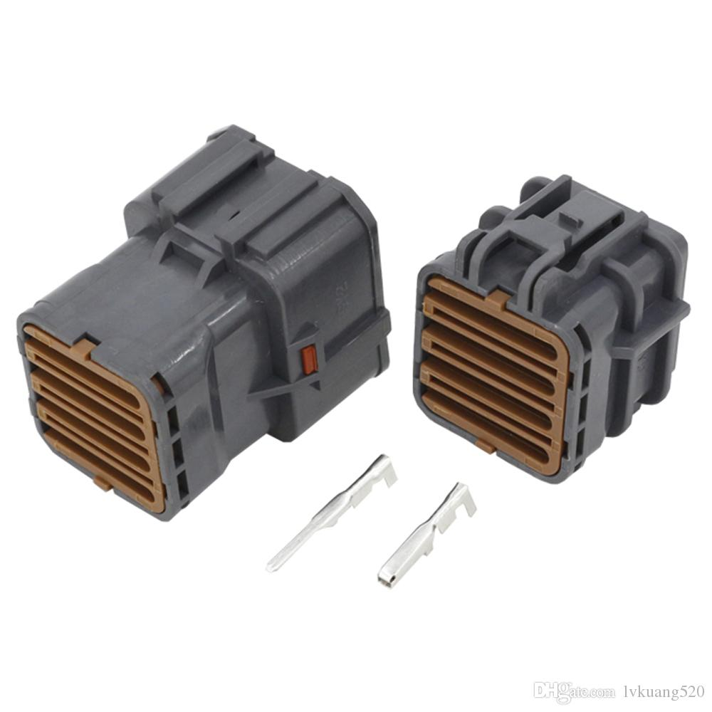 5 Sets 16 Pin Automotive Waterproof Connector Square Connector with Terminal DJ7161Y-2-11//21