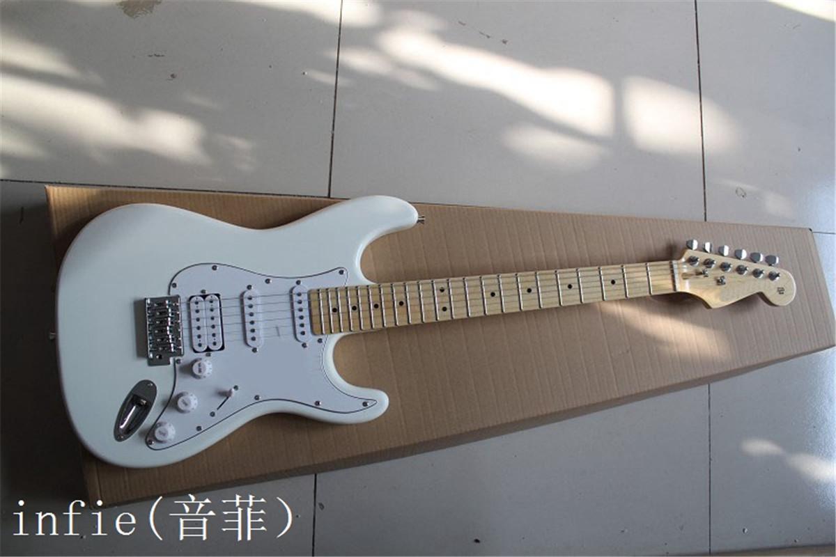 Atacado Branco ST estilo estrela assinatura traste inlay bordo frete grátis violão elétrico fingerboard