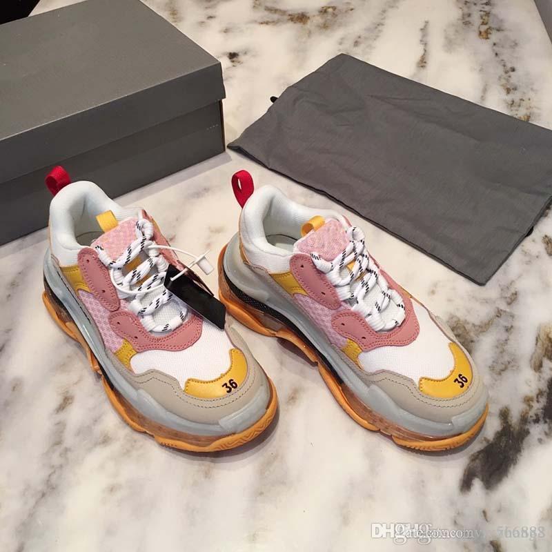 5 colores calientes de la manera zapatos deportivos par de diseño de lujo de las mujeres calzados informales de los zapatos del diseñador de lujo de edad N72 L5