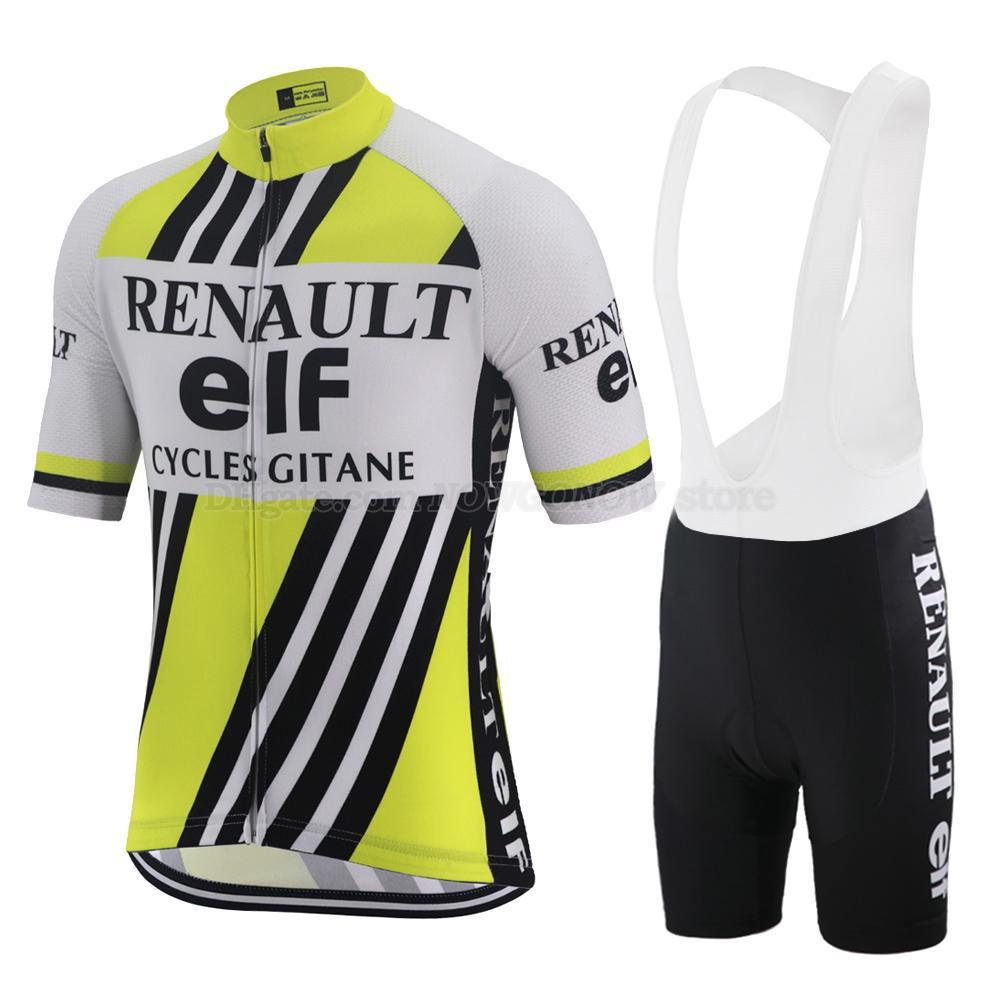Estate giallo nero retrò ciclismo jersey pro squadra bicicletta copre strada GEL traspirante pastiglie uomini Maglia manica corta camicia bici mtb
