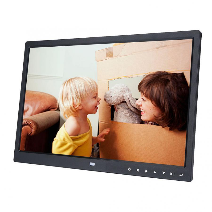"""15 """"زر HD شاشة تعمل باللمس إطار الصورة الرقمية المنبه MP3 / 4 فيلم فيديو لاعب مع اللغة والموسيقى اللعب إطار الصورة T200320"""
