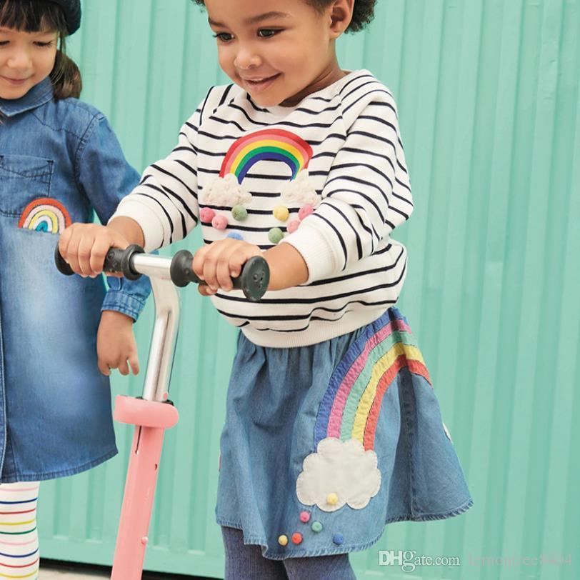 Pony gonna pantaloncini di colori della caramella del pannello esterno della bambina tutu di Natale gonne di jeans per le ragazze pantaloncini paillettes Gonna per ballare a buon mercato in vendita Richu