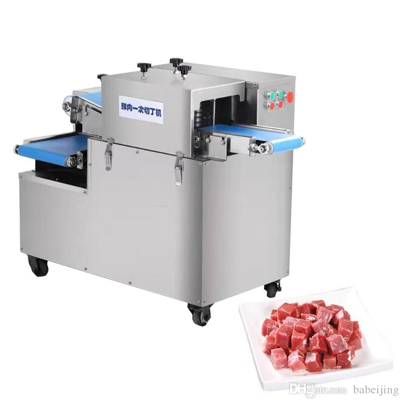 High output profession 400kg/h commercial full automatic chicken goose duck cow fish meat cutting dicing machine dicing cutter