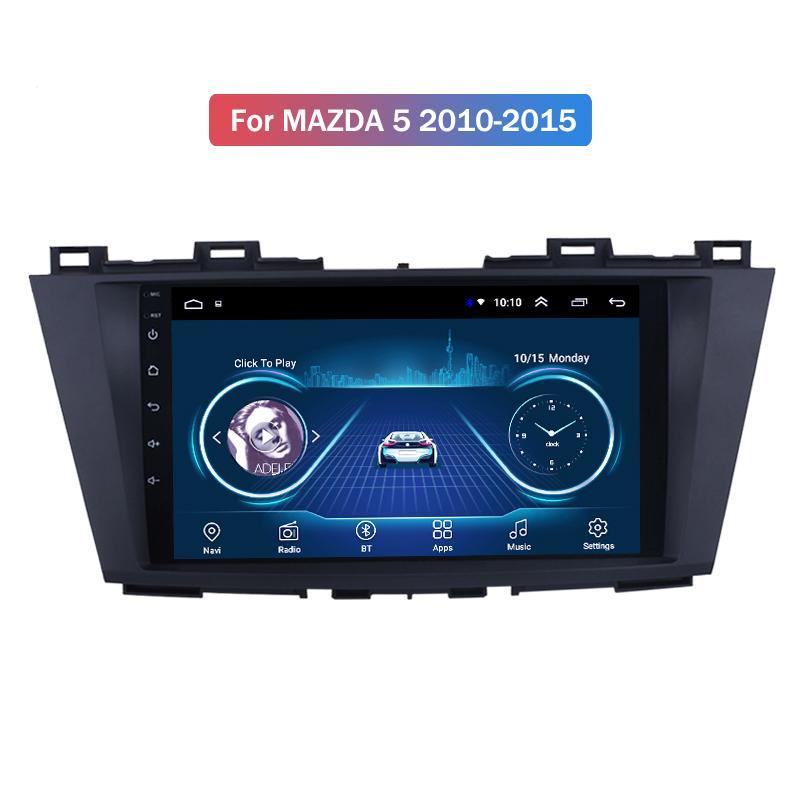 نظام الوسائط المتعددة السيارات لمازدا 5 2010-2015 AutoRadio صوت ستيريو كاميرا للرؤية الخلفية فيديو لاعب SWC مرآة لينك