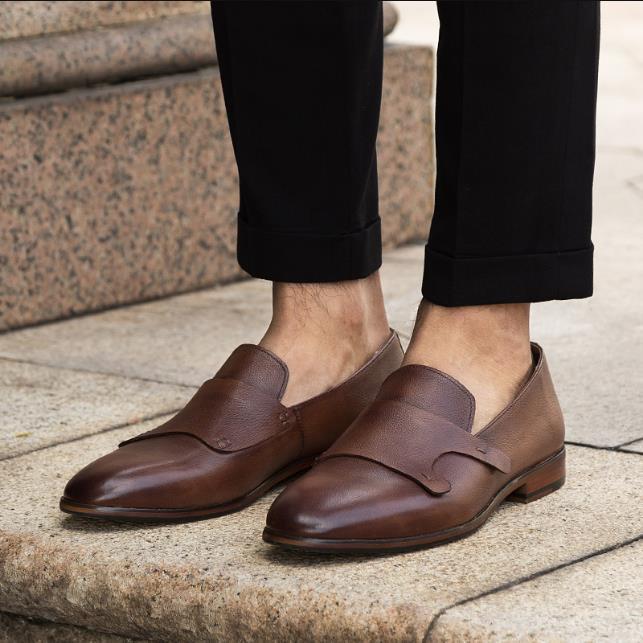 Горячая распродажа - Классическая обувь Мужская деловая яркая обувь Рука Мягкое дно Мелкий рот Обувь из натуральной кожи молодежная весенняя модель