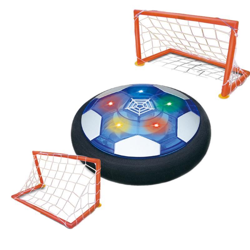 Palla giocattoli per bambini Air Power Soccer Disc ricaricabile galleggiante di calcio con la luce principale per i ragazzi del bambino delle ragazze al coperto