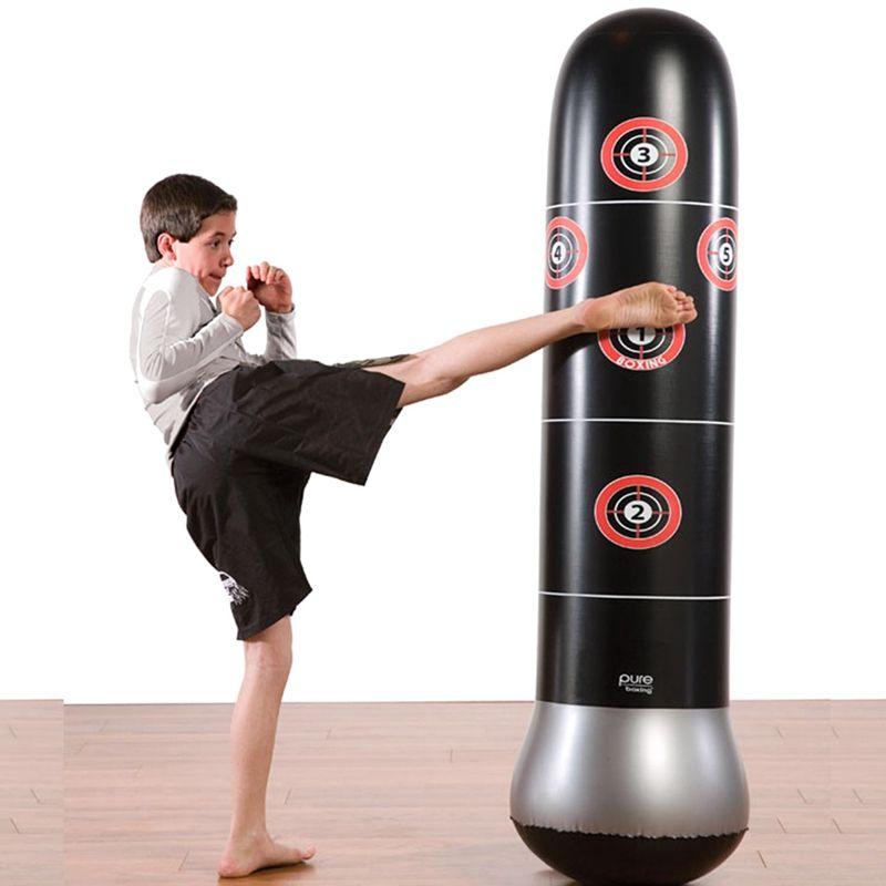 boxe saco de Fitness Formação PVC Vertical inflável 1.5M / 1.6M Bounce Back Sandbag Gym Equipment Exerciser Luta Ferramenta de Bola