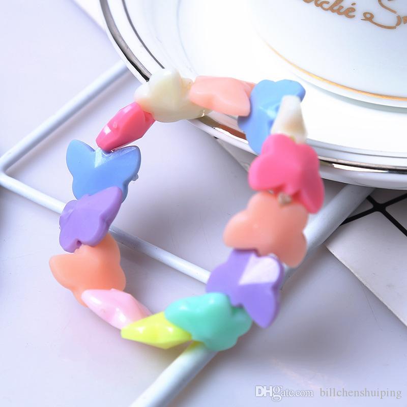 La nuova farfalla dolce variopinta fatta a mano scherza il regalo del partito di compleanno dei bambini dei monili dei braccialetti di fascino della ragazza che spedice liberamente