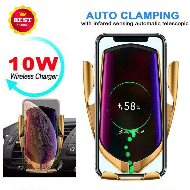 10W Wireless Car Charger Phone caricabatterie rapido R1 Monte infrarossi Smart Sensor Automatic Air Vent Holder efficienza Nokia Wireless