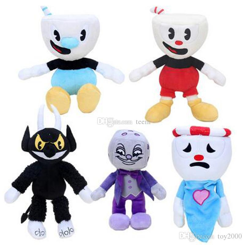 13 Styles Game Cuphead Chalice Plush Toys Mugman Ms. Chalice ghost King Dice Cagney Carnantion Puphead Plush Dolls Toys for Children Gifts
