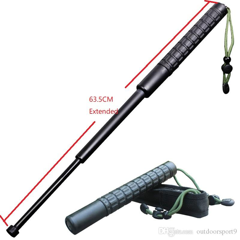 Extended 63CM Rod-throwing Plastic PC Packing case stick Weapon Telescopic Survival camping Protective gear Self defense free shipping