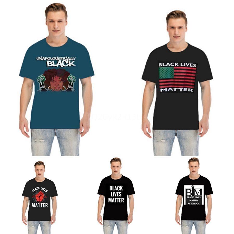 Siyah Hayatlar Matter! Yeni Lüks Tasarımcı T Gömlek Hip Hop Beyaz Erkek Giyim Casual T Shirt Kaplan Baş Mürettebat Yaka Kısa Kollu Tees Baskılı # 75