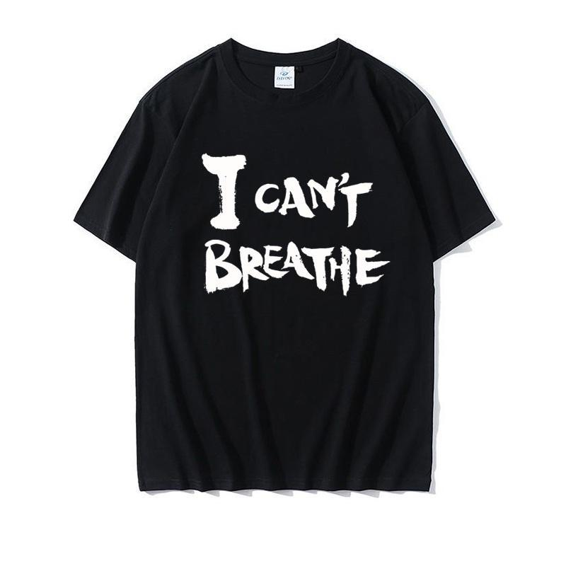 DHL Shipping I Cant Breathe Black Lives Matter T-Shirt Attention short sleeve tops Unisex clothing tshirt I Can't Breathe Artwork Printed