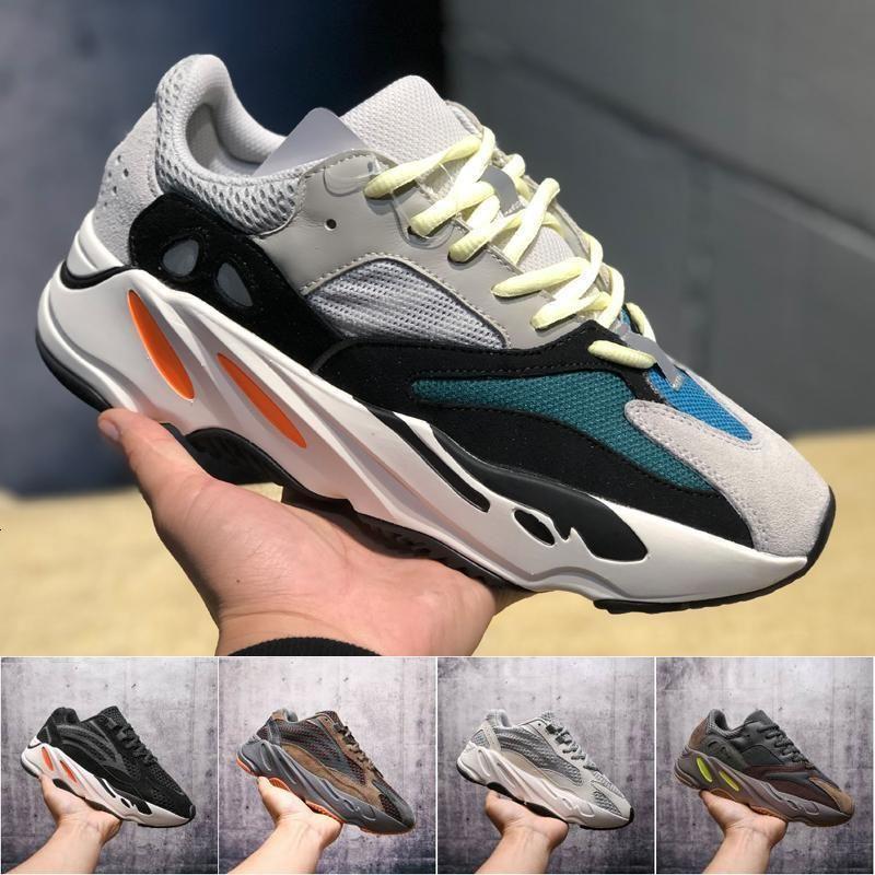 Mens Kanye West 700 coureur de vague mauve Chaussures de course pour femmes Athletic meilleure qualité 700S Sport Courir Designer sneakers 36-45