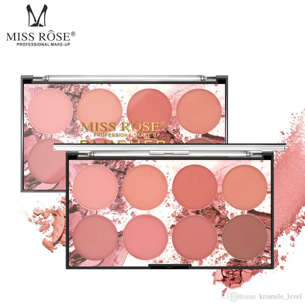MISS ROSE Eight-color Blush Natural Moisturizing Cleansing Lotion Nude Makeup Makeup Rouge Cream Makeup Free Shipping