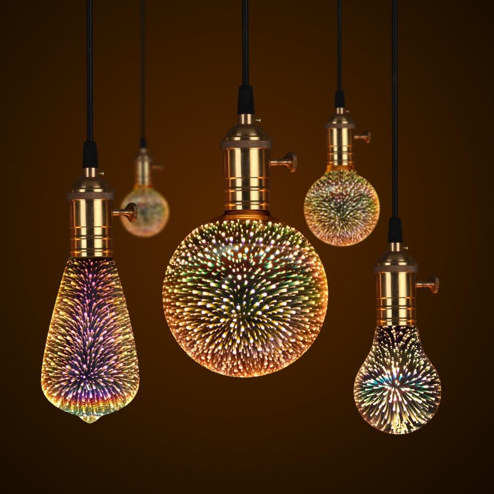 LED fábrica de lâmpadas 3D Firework Art Decoração Lamp LED de Luzes de Natal Festoon Led Light For Holiday