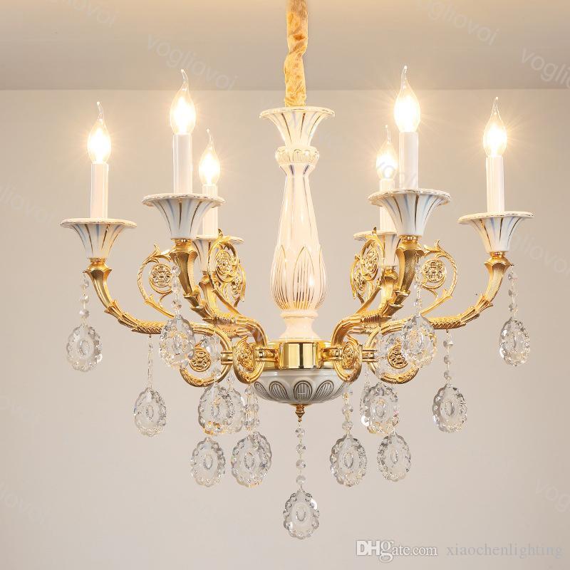 Lustres de cristal moderno k9 e14 placa cerâmica casa iluminação luminária suspensão droplight viver dhl