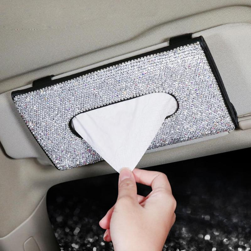 Tissue Box PU Car Couro tecido Box guardanapo Titular Viseira Hanging Armazenamento Para Car Sunvisor Hanging titular caso Paper
