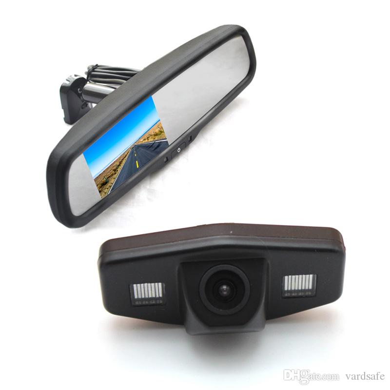 Parking Reverse Backup Camera + Replacement Rear View Mirror Monitor for Car Honda Accord Pilot Civic Odyssey