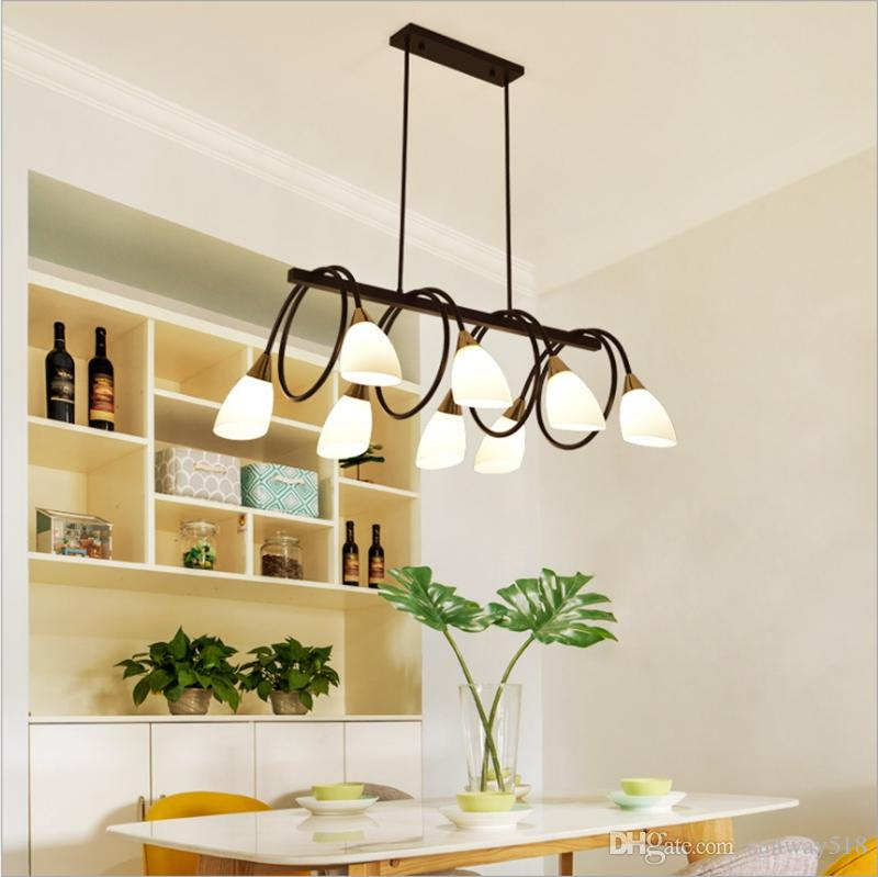 Contemporary Chandeliers Black 6 8 10 Light Modern Dining Room Lighting  Fixtures Hanging, Kitchen Island Cage Pendant Lights With Free Bulb Retro  ...