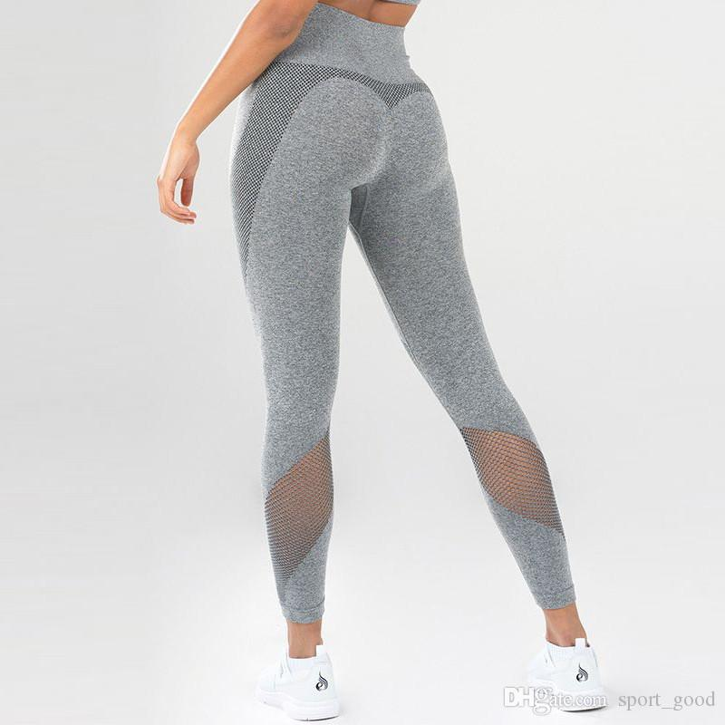 high quality materials soft and light the sale of shoes 2019 Hot Sale Sports Wear Moto Mesh Yoga Pants For Women High Waist  Leggings Fitness Clothing Female Fitness Legging Sport Gym Leggings Tights  From ...