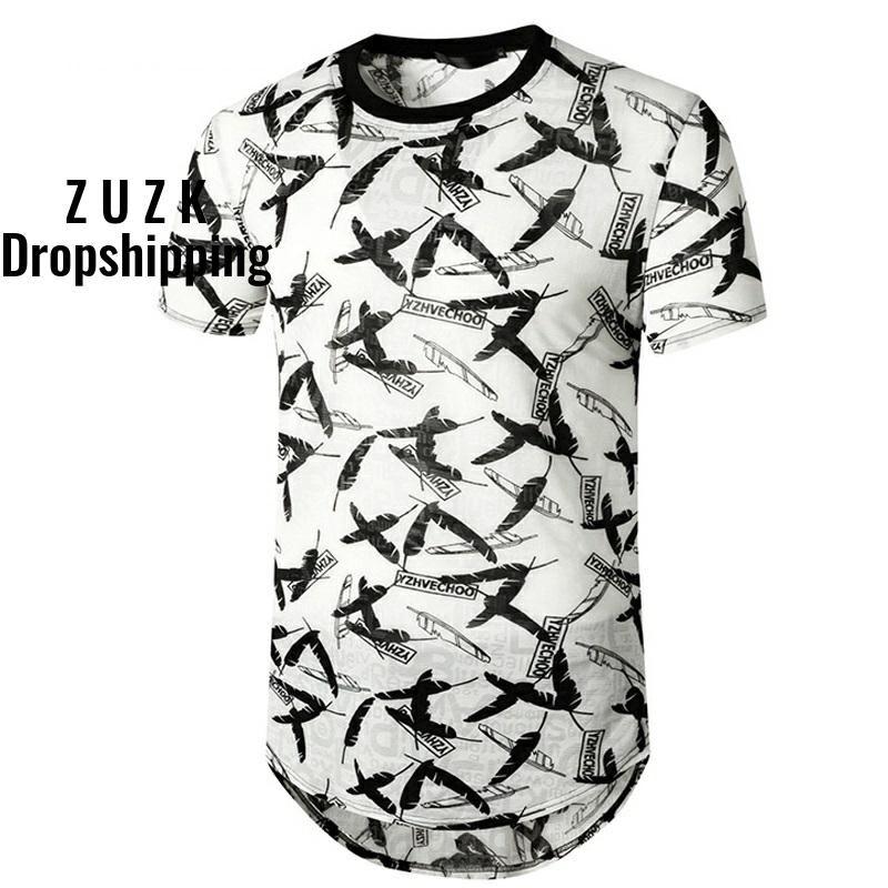 ZUZK la vendimia de Hip Hop camiseta de los hombres verano de las mujeres de Harajuku pluma de letra grande Camiseta para los hombres flojos Streetwear Camisetas