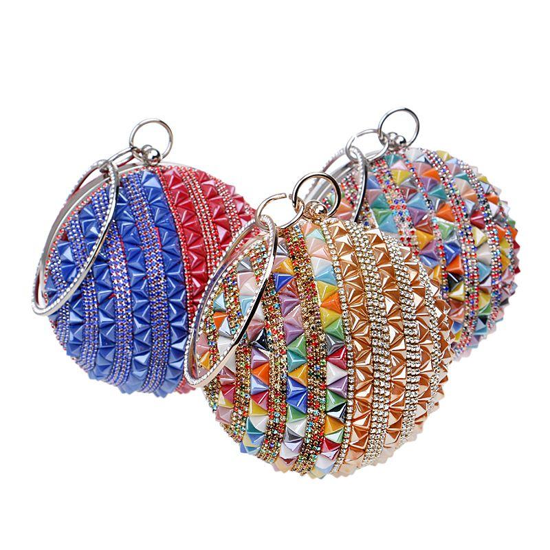 Heißer Verkauf Ball Neue Frauen Abendtaschen Keramik Diamanten 3 Arten Party Kupplung Hochzeit Braut Damen Eveing Taschen