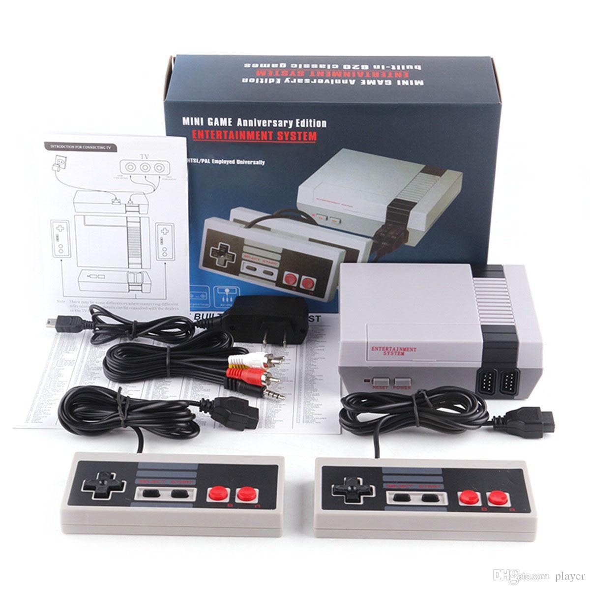 Hot Vendre Retro Classic Mini TV peut stocker 620 500 Console de jeux vidéo de poche pour NEWS Jeux consoles avec détail Boxs DHL 2019