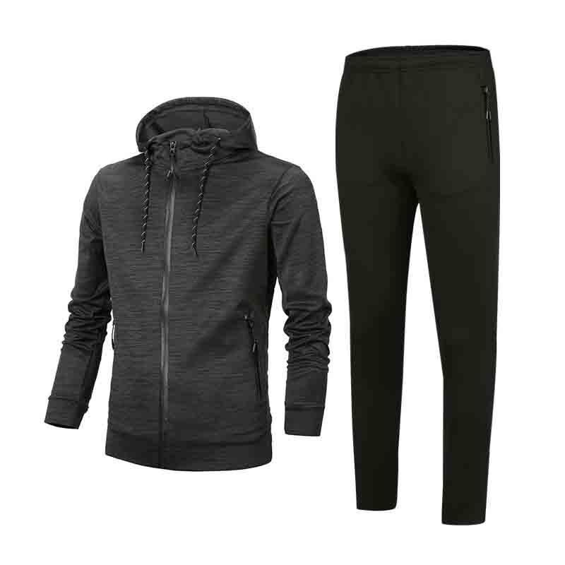 Für Männer Anzugjacke mit Kapuze Klage Striped Anzug Fashion Style Zipper Pullover Jacken Tops + Pants Jogger Anzüge