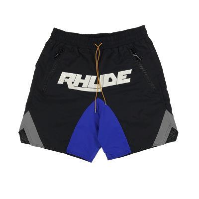États-Unis 2020 New Mens Designer Rhude Pantalon de plage 3M Reflective orthographique couleur Logo Double Impression Drawstring Sports Boxe Casual Shorts Pantalons