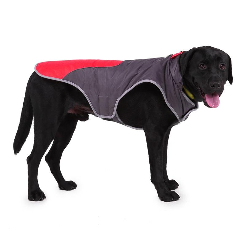 Waterproof Dog Clothes Big Dog Patch-work Jacket Fleece Inner Layer Dog Pet Winter Warm Coat Vest Apparel For Medium Large Dogs