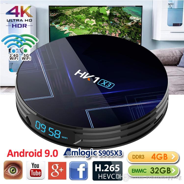 HK1 X3 Amlogic S905X3 Android 9.0 TV BOX 4GB RAM 2.4G&5G Wifi BT4.0 TV BOX TX6 H96 MAX